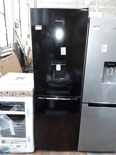 Lot 11048 HI-SENSE 185CM 70/30 FRIDGE FREEZER IN BLACK WITH WATER DISPENSER