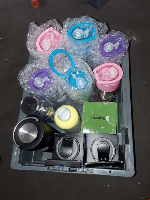 Lot 2580 BOX OF APPROXIMATELY 12 ASSORTED WATER BOTTLES