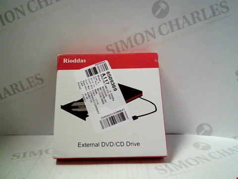 Lot 15601 RIODDAS EXTERNAL DVD/CD DRIVE