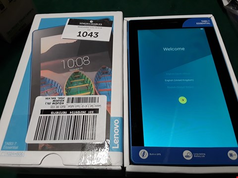 Lot 1043 BOXED LENOVO TAB 3 A7-10 7INCH TABLET RRP £89.99