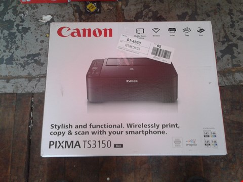Lot 11074 LOT OF 3 CANON PIXMA TS3150 PRINTERS