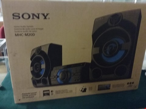 Lot 9202 SONY MHC-M20D HOME AUDIO SYSTEM RRP £220