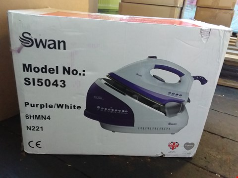 Lot 2523 BOXED GRADE 1 SWAN STEAM GENERATOR IRON SI5043 RRP £130