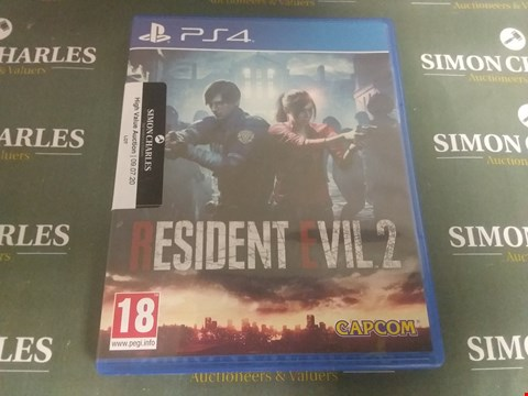 Lot 1059 RESIDENT EVIL 2 PLAYSTATION 4 GAME