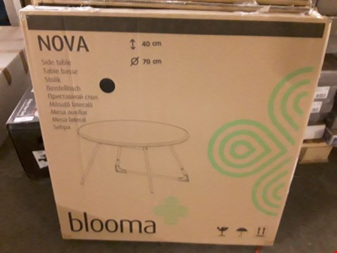 Lot 344 BOXED BLOOMA NOVA CIRCULAR SIDE TABLE  RRP £28