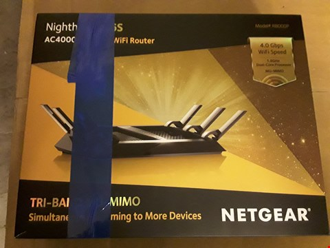 Lot 8082 NETGEAR NIGHTHAWK X6S AC4000 TRI BAND WIFI ROUTER MODEL R8000P WITH CABLES