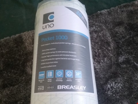 Lot 49 QUALITY BAGGED AND ROLLED BREASLEY UNO POCKET 1000 190 X 120CM MATTRESS