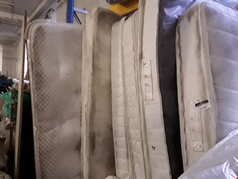 Lot 12282 LOT OF 7 ASSORTED UNBAGGED DESIGNER MATTRESSES IN A VARIETY OF DIFFERENT SIZES