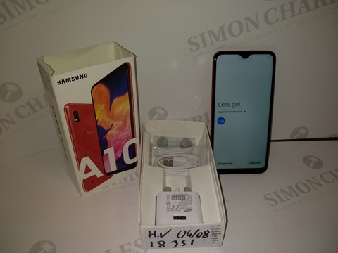 Lot 18351 SAMSUNG GALAXY A10 32GB SMART PHONE IN RED