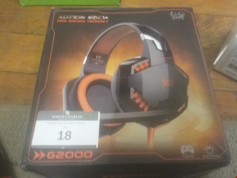 Lot 18 BOXED KOTION EACH PRO GAMING HEADSET