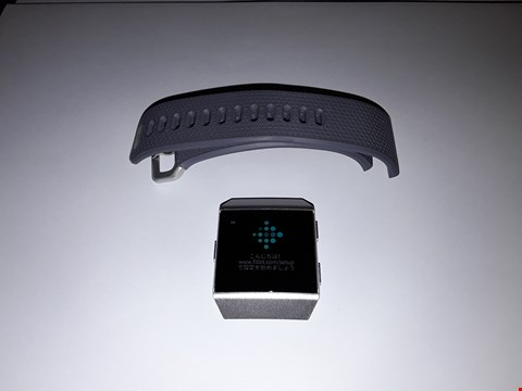Lot 726 FITBIT IONIC FB503 - SILVER, GREY RUBBER STRAP