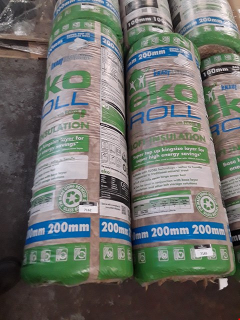 Lot 7162 1 x BAGGED ROLL OF 200MM LOFT INSULATION