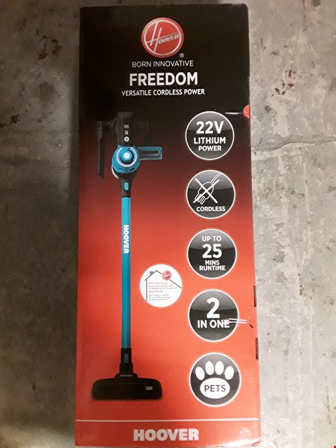 Lot 335 HOOVER FREEDOM 2-IN-1 PETS CORDLESS STICK VACUUM CLEANER