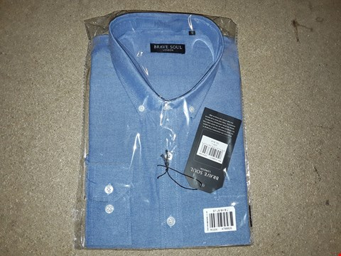 Lot 120 BOX OF APPROXIMATELY 4 BRAVE SOUL LARGE BLUE SHIRTS