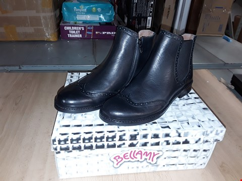 Lot 12318 BOXED BELLAMY BLACK MAYA LEATHER CHELSEA BOOTS UK SIZE 3