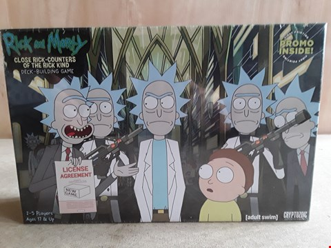 Lot 12 BRAND NEW BOXED RICK AND MORTY DECK-BUILDING GAME