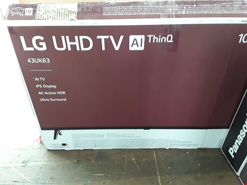 "Lot 1093 LG 43"" ULTRA HD, 4K HDR, FREEVIEW PLAY, SMART, LED TELEVISION MODEL 43UK6300PLB RRP £499.00"