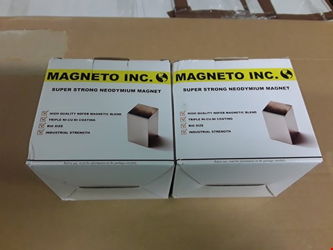 Lot 4458 LOT OF 2 BOXED MAGNETO INC SUPER STRONG NEODYMIUM MAGNET