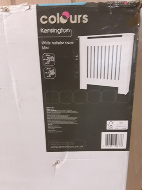 Lot 3178 COLOURS KENSINGTON MINI WHITE RADIATOR COVER H797 X W780 X D180 MM