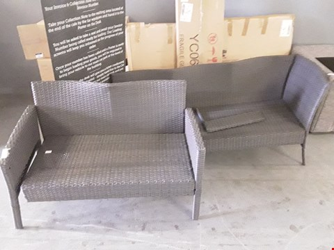 Lot 5292 LOT OF GREY RATTAN OUTDOOR SEATING PARTS
