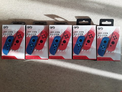 Lot 105 LOT OF 5 BRAND NEW ORB GAMING JOY-CON SILICONS FOR NINTENDO SWITCH