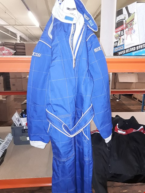 Lot 3088 SET OF SPARCO BLUE RACING SUIT SIZE XL