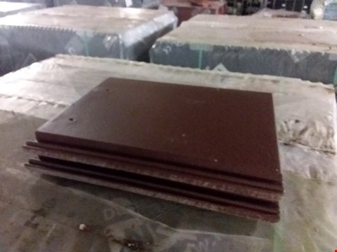 Lot 3106 PALLET OF APPROXIMATELY 180 FLAT CONCRETE PANTILE PLANUM WITH NAIL HOLE DARK BROWN