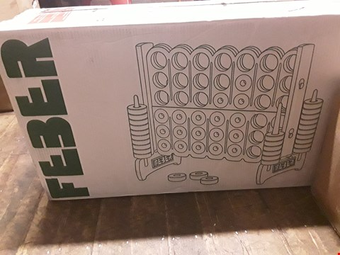 Lot 1596 BOXED FEBER MEGA 4 IN LINE GAME  RRP £189.99