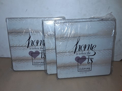 Lot 8010 LOT OF 3 SETS OF 4 INSPIRE LOVE PLACEMATS - 12 MATT'S IN TOTAL
