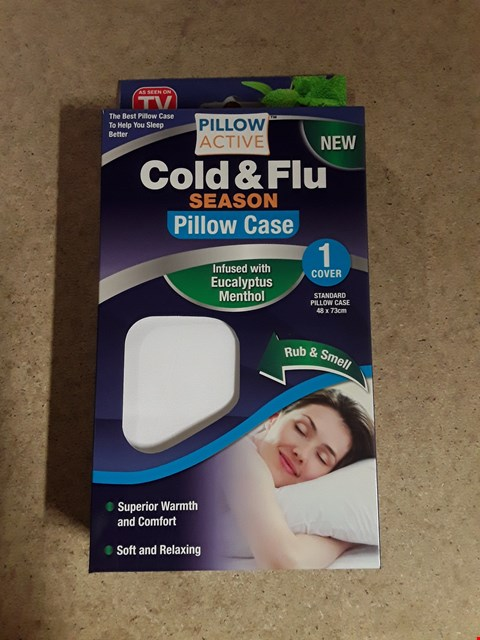 Lot 614 BOX OF 6 PILLOW ACTIVE COLD & FLU SEASON PILLOW CASE PACKS (6 PER PACK)