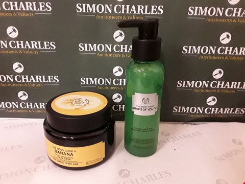 Lot 68 LOT OF 2 ASSORTED BODY SHOP ITEMS TO INCLUDE HAIR MASK AND YOUTH LIQUID PEEL
