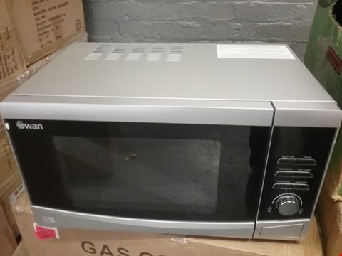 Lot 123 SWAN 23L SILVER TOUCH CONTROL DIGITAL MICROWAVE SM22110S RRP £110
