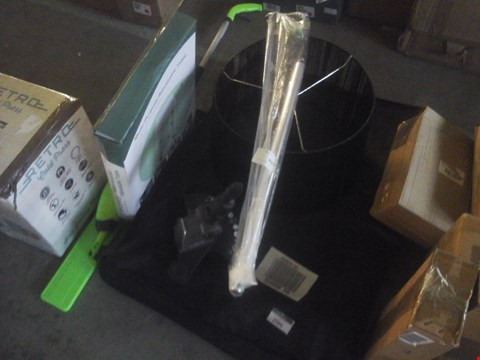 Lot 2366 COLLAPSIBLE CHAIR, ADJUSTABLE TABLE, LAMP SHADE, HOOVER HEAD, WEEDER AND DRY MOP