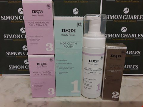 Lot 12070 LOT OF 5 ASSORTED NSPA BEAUTY RITUAL STYLE CLEANSING ITEMS