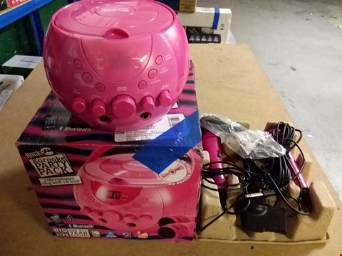 Lot 971 ROCKJAM KARAOKE PARTY PACK - PINK