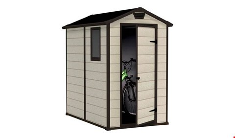 Lot 2066 BOXED GRADE1  KETER MAINTENANCE FREE 4 × 6 SHED