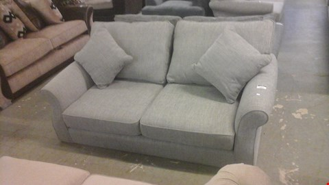 Lot 1251 DESIGNER GREY FABRIC 2 SEATER SOFA