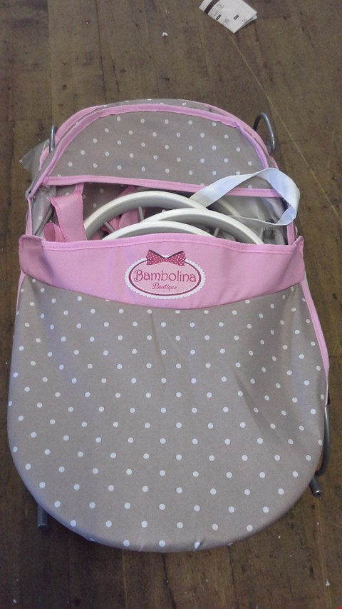 Lot 2521 BAMBOLINE BOUTIQUE CLASSIC PRAM  RRP £65.00