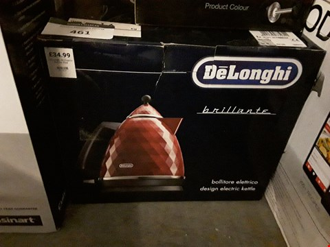 Lot 461 DELONGHI BRILIIANTE RED ELECTRIC KETTLE
