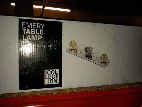 Lot 282 BOXED EMERY TABLE LAMP