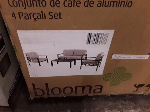Lot 3 BOXED BLOOMA  JAZ ALUMINIUM GARDEN COFFE SET  RRP £267