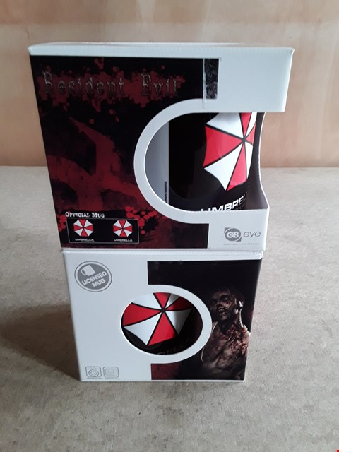 Lot 14 2 BRAND NEW BOXED RESIDENT EVIL MUGS