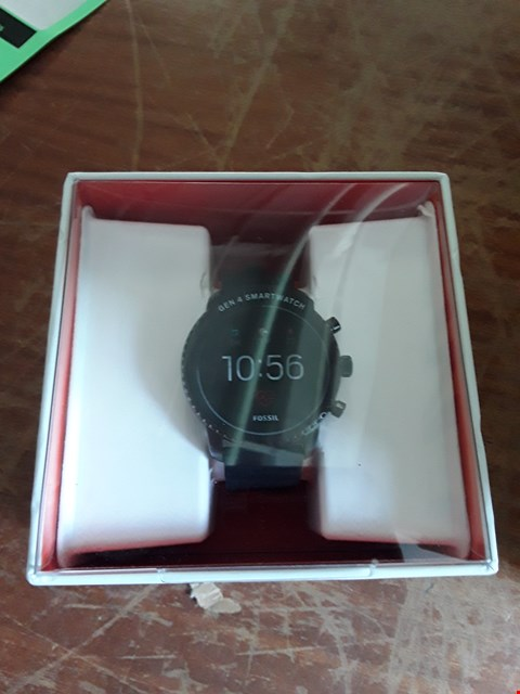 Lot 33 FOSSIL Q EXPLORIST SMART WATCH FULL DISPLAY SILICONE BLACK RRP £329