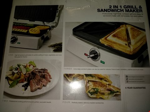 Lot 2032 CUISINART 2 IN 1 GRILL AND SANDWICH MAKER