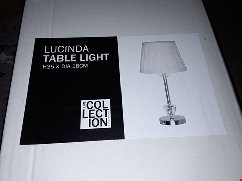 Lot 254 BOXED HOME COLLECTION LUCINDA TABLE LAMP