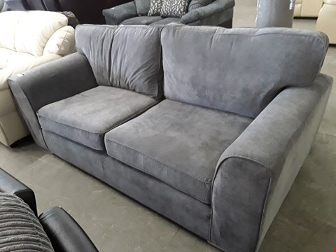 Lot 94 DESIGNER GREY FABRIC THREE SEATER SOFA