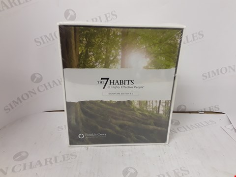 Lot 10697 BOXED SEALED THE 7 HABITS OF HIGHLY EFFECTIVE PEOPLE SIGNATURE EDITION 4.0 BY FRANKLIN COVEY