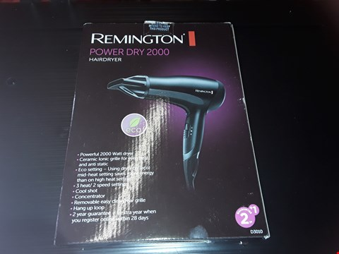 Lot 78 BOXED REMINGTON POWER DRY 2000 HAIRDRYER