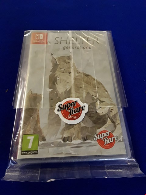 Lot 7602 SHELTER GENERATIONS NINTENDO SWITCH GAME