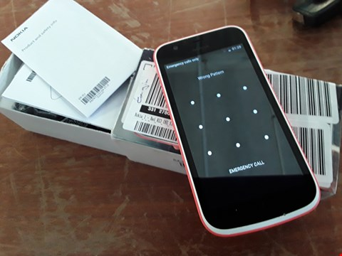 Lot 285 NOKIA 1 MOBILE PHONE RED RRP £80